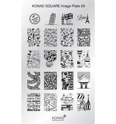 Пластина square plate 9 20 Дизайнов