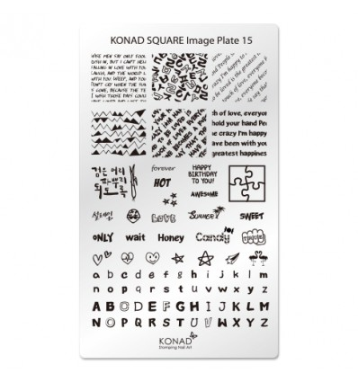 Пластина Square Plate 15