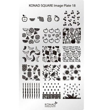 Пластина Square Plate 18
