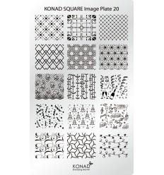 Пластина Square Plate 20 (Праздничная)