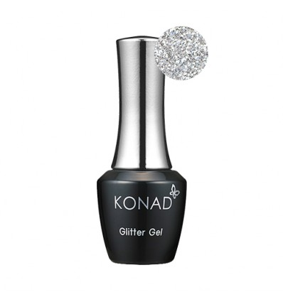 Гель лак KONAD Gel Nail - 38 Glitter Silver (серебро) 10 мл