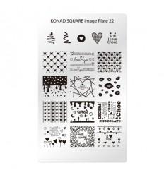 Пластина Square Plate 22