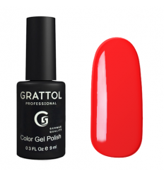 Гель лак Grattol Bright Red