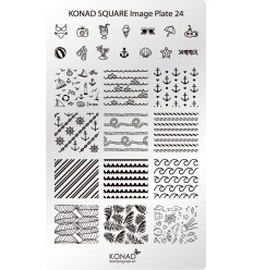 Пластина Square Plate 24