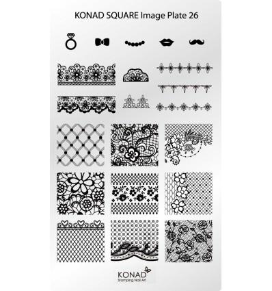 Пластина Square Plate 26