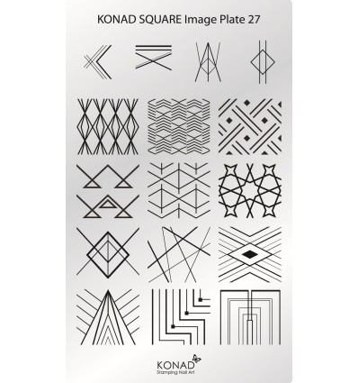 Пластина Square Plate 27