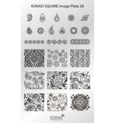 Пластина Square Plate 28