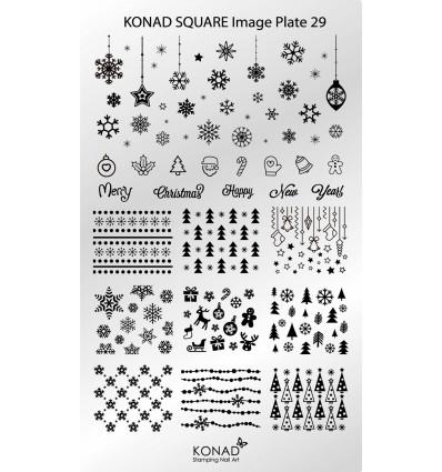 Пластина Square Plate 29 (новогодняя)